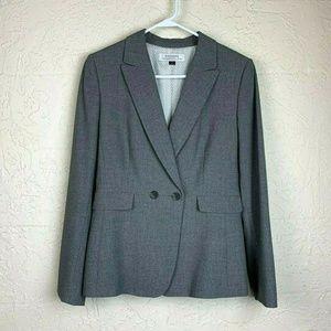 Tahari Arthur S Levine Blazer 8 Gray 2 Button